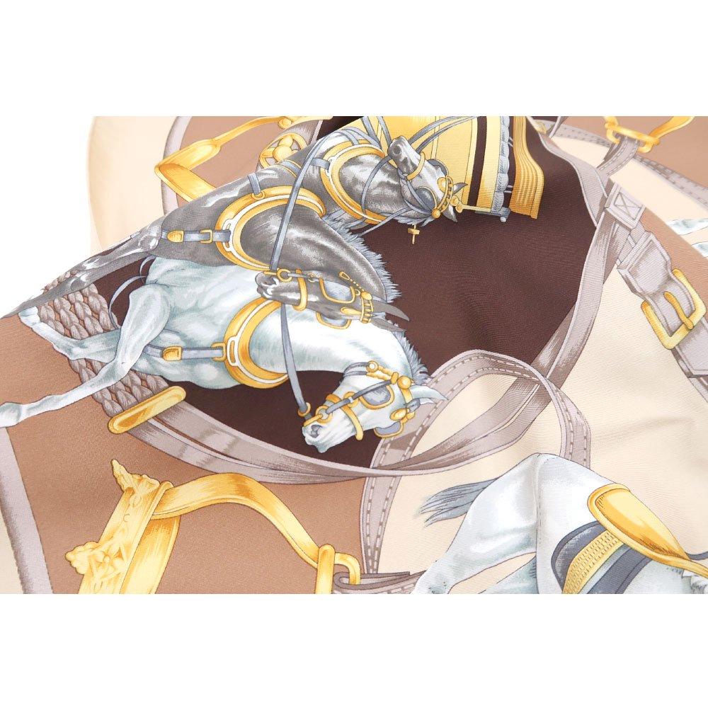 HORSE(CM9-340) 伝統横濱スカーフ 大判 シルクツイル スカーフの画像15