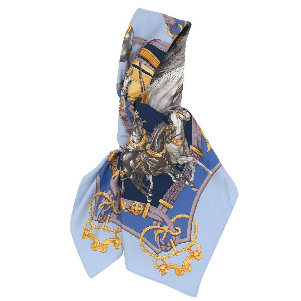 HORSE(CM9-340) 伝統横濱スカーフ 大判 シルクツイル スカーフの画像3