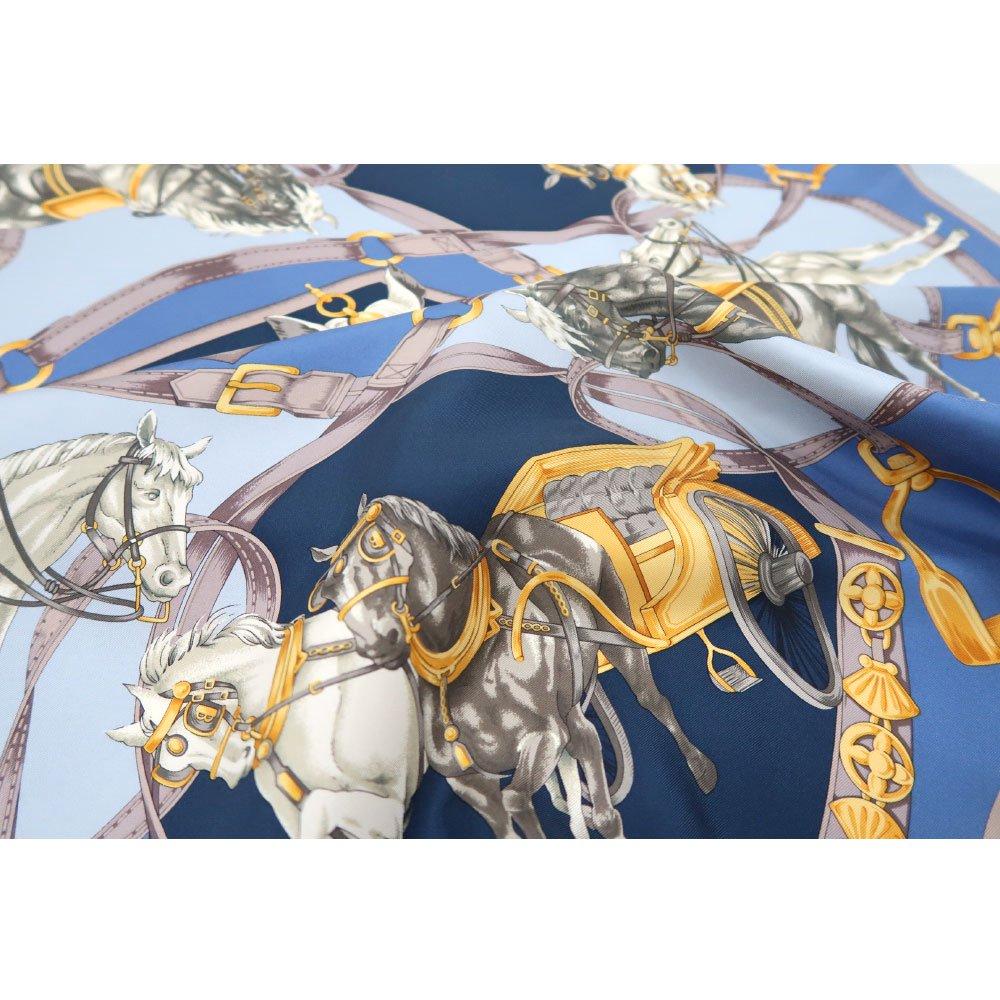 HORSE(CM9-340) 伝統横濱スカーフ 大判 シルクツイル スカーフの画像4