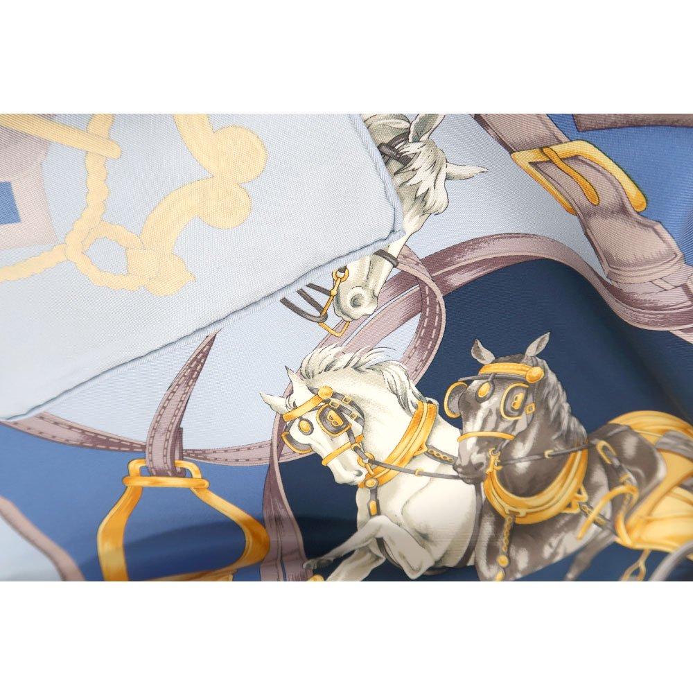 HORSE(CM9-340) 伝統横濱スカーフ 大判 シルクツイル スカーフの画像7