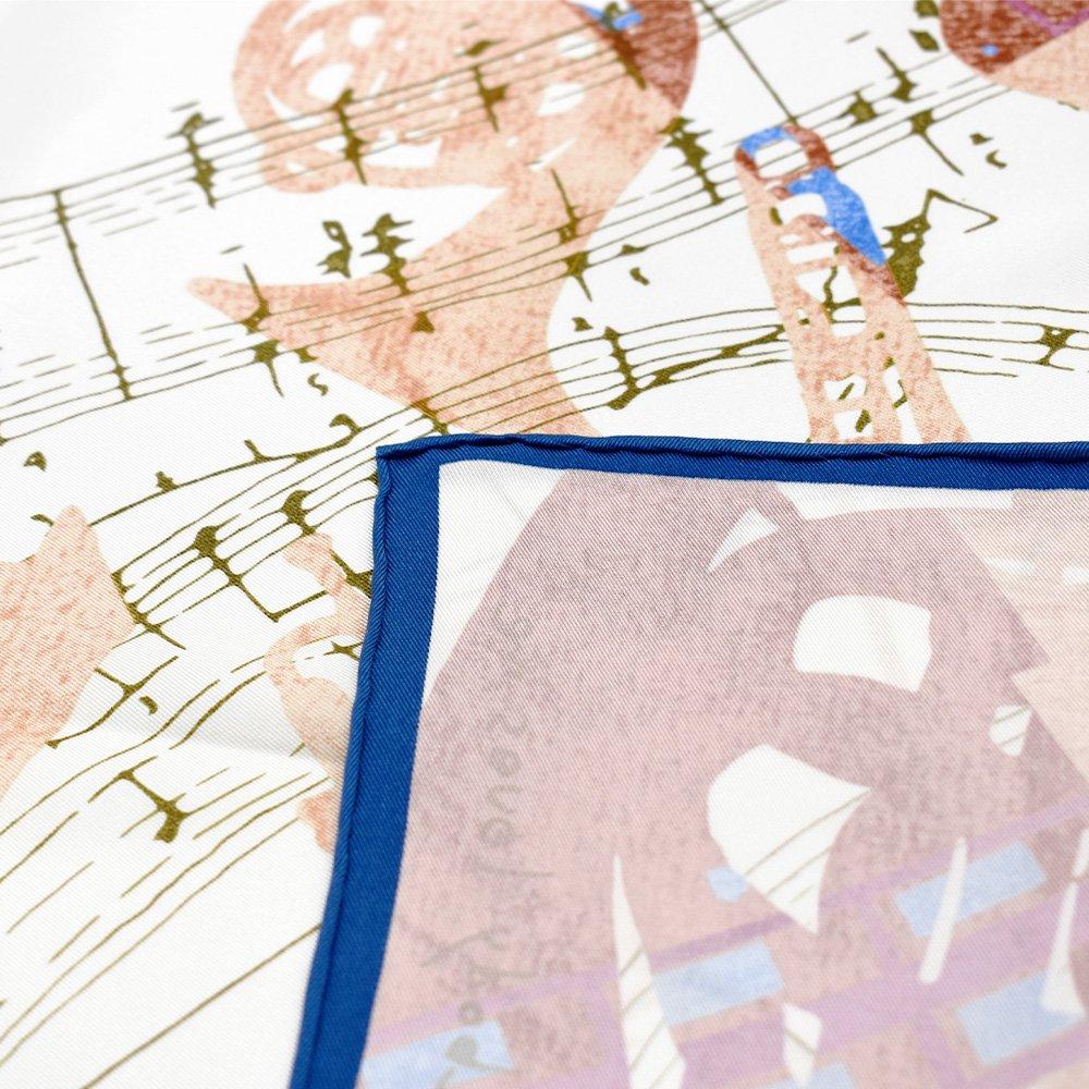 SOMEBODY LOVES ME/JAZZ(CML-008) 伝統横濱スカーフ 大判 シルクスカーフ