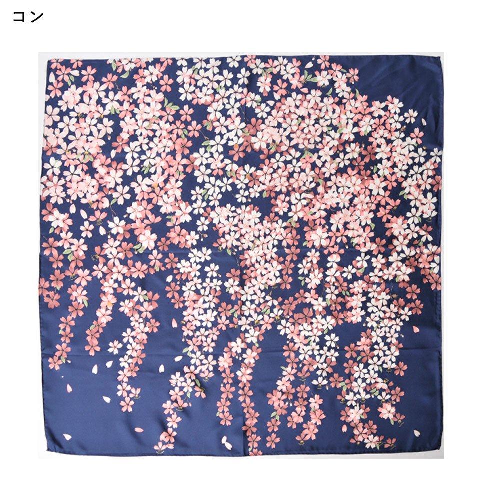しだれ桜(CFD-021) 伝統横濱スカーフ 大判 シルクツイル スカーフの画像2