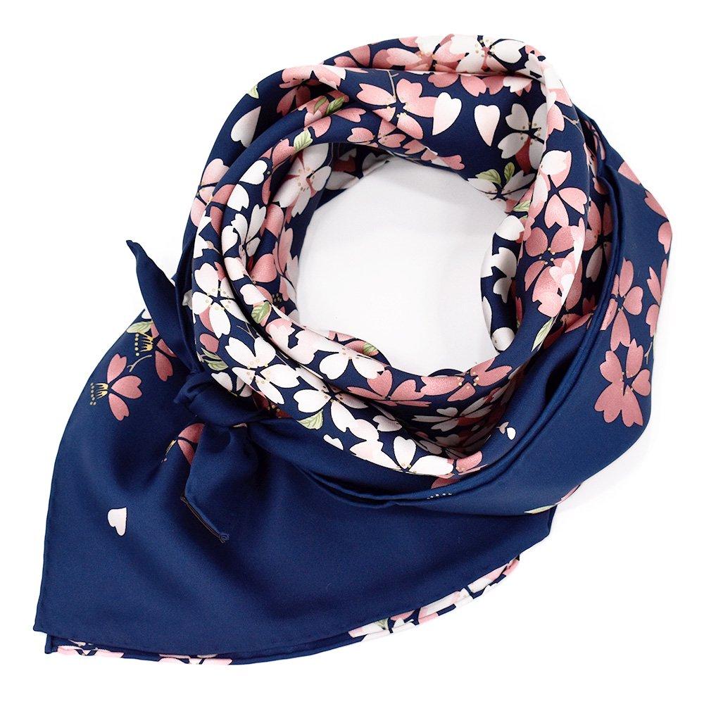 しだれ桜(CFD-021) 伝統横濱スカーフ 大判 シルクツイル スカーフの画像3