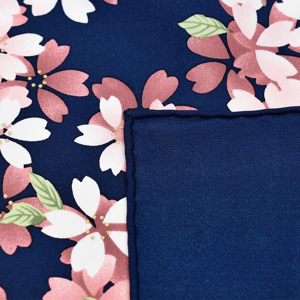 しだれ桜(CFD-021) 伝統横濱スカーフ 大判 シルクツイル スカーフの画像6