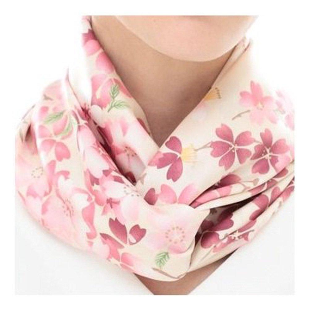 しだれ桜(CFD-021) 伝統横濱スカーフ 大判 シルクツイル スカーフの画像7