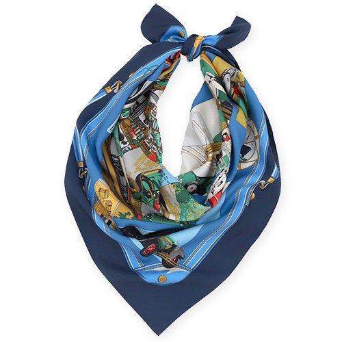 トラベル(CM6-836) 伝統横濱スカーフ 大判 シルクツイル スカーフ