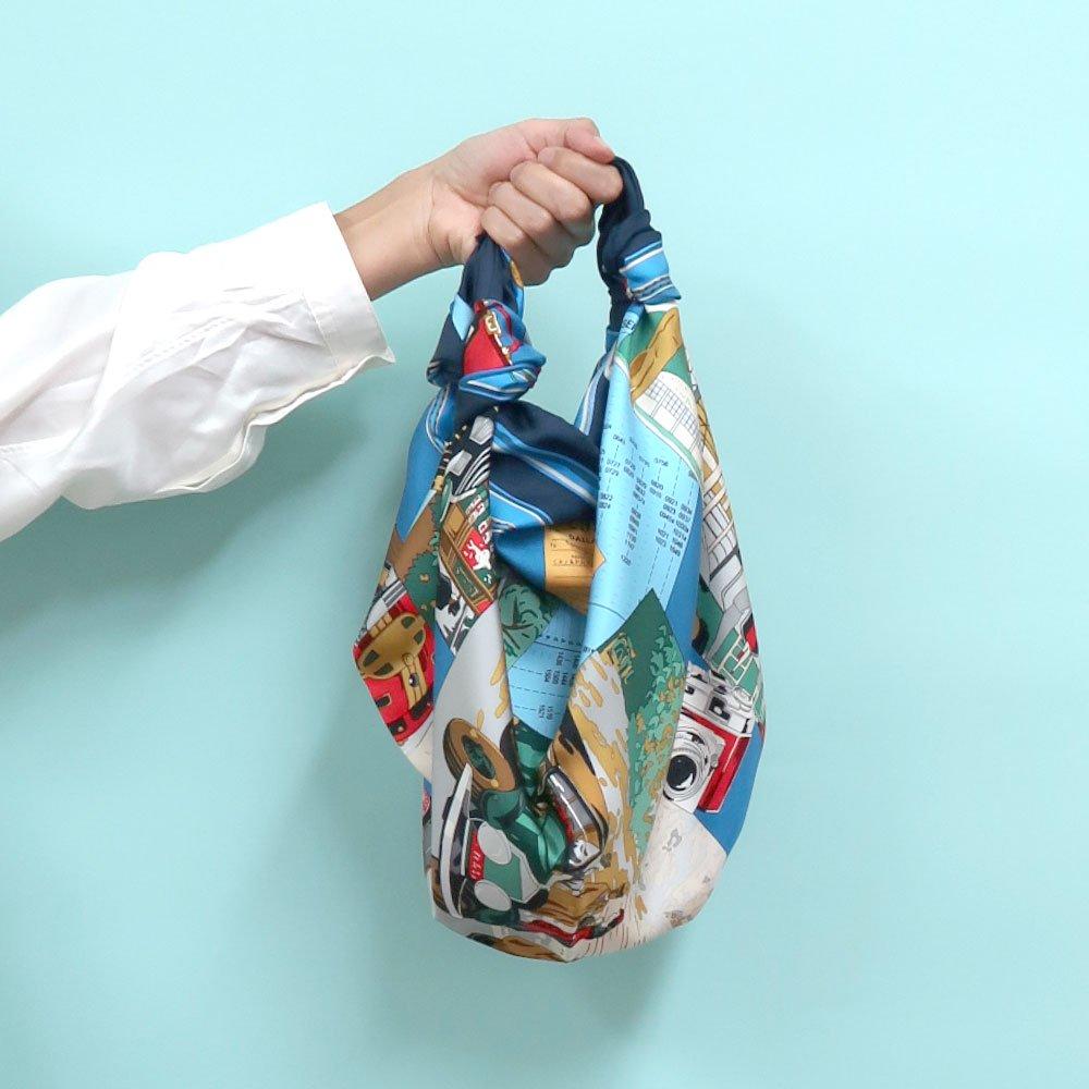 トラベル(CM6-836) 伝統横濱スカーフ 大判 シルクツイル スカーフの画像10