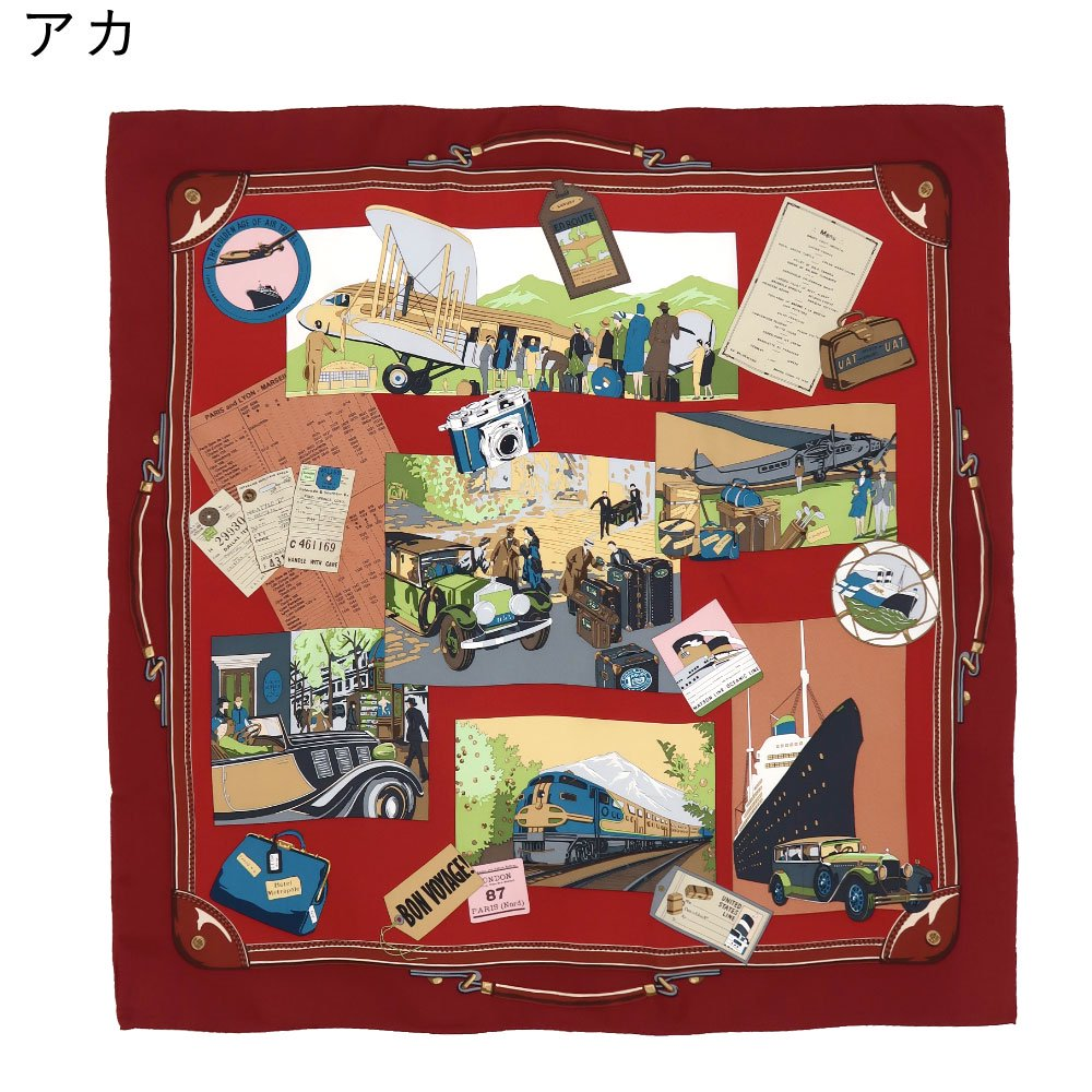 トラベル(CM6-836) 伝統横濱スカーフ 大判 シルクツイル スカーフの画像11
