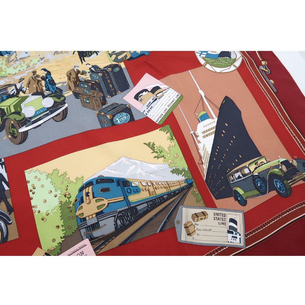 トラベル(CM6-836) 伝統横濱スカーフ 大判 シルクツイル スカーフの画像14