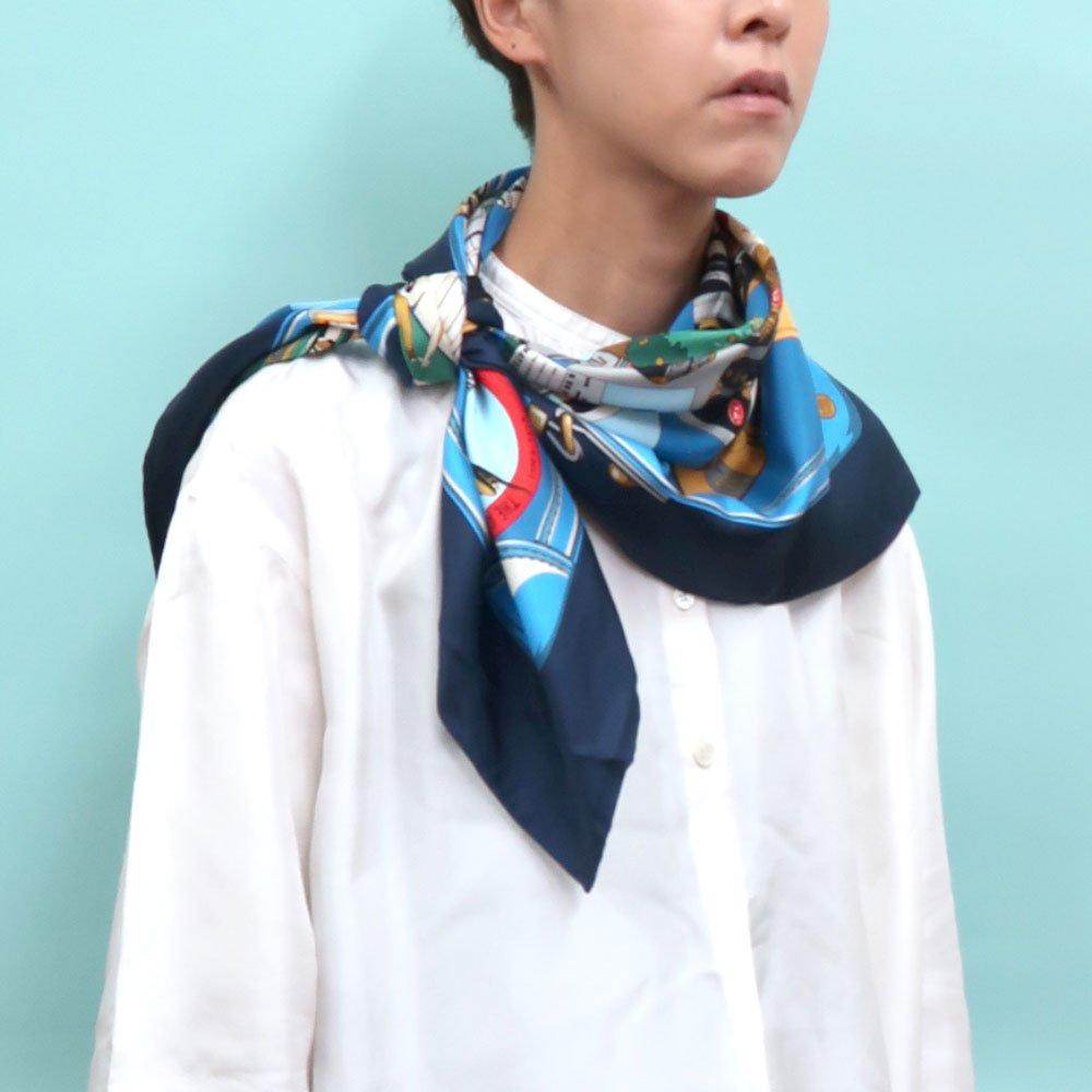 トラベル(CM6-836) 伝統横濱スカーフ 大判 シルクツイル スカーフの画像9