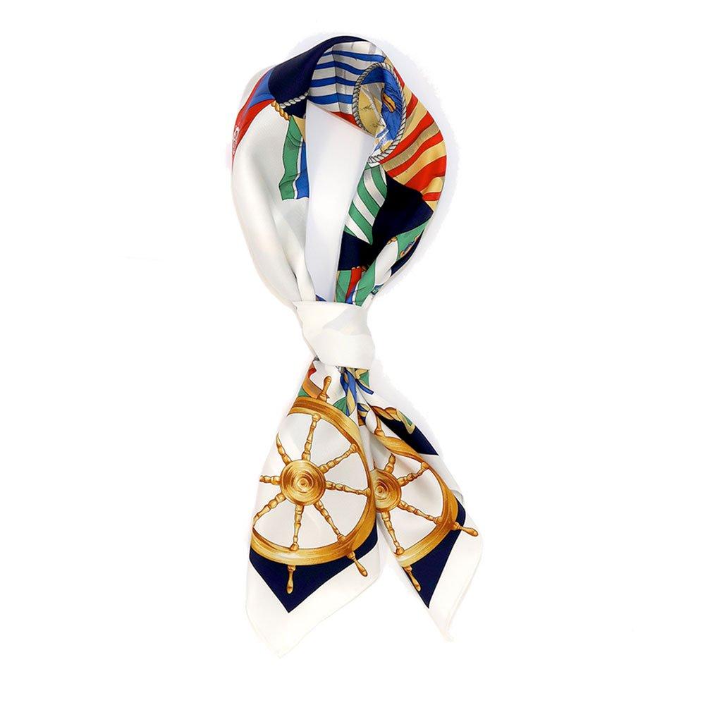マリンフラッグ(CM3-279) Marcaオリジナル 大判 シルクツイル スカーフの画像4