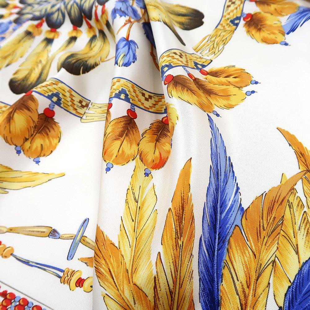羽根飾り(CM5-156T) Marcaオリジナル 大判 シルクツイル スカーフの画像5