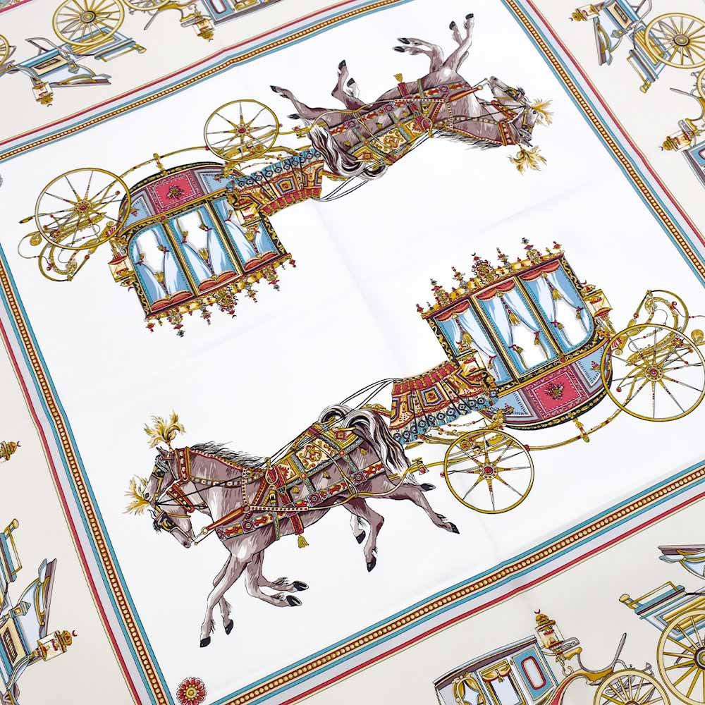 馬車行列(CM5-438) 伝統横濱スカーフ 大判 シルクツイル スカーフの画像10