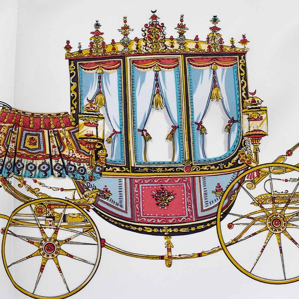 馬車行列(CM5-438) 伝統横濱スカーフ 大判 シルクツイル スカーフの画像11