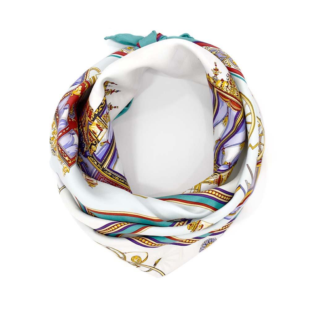 馬車行列(CM5-438) 伝統横濱スカーフ 大判 シルクツイル スカーフの画像3