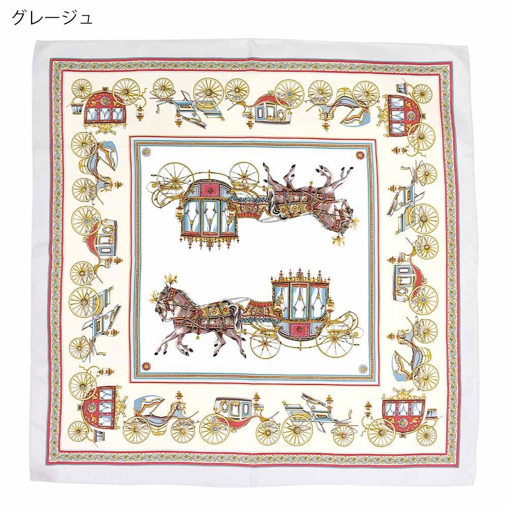 馬車行列(CM5-438) 伝統横濱スカーフ 大判 シルクツイル スカーフの画像7