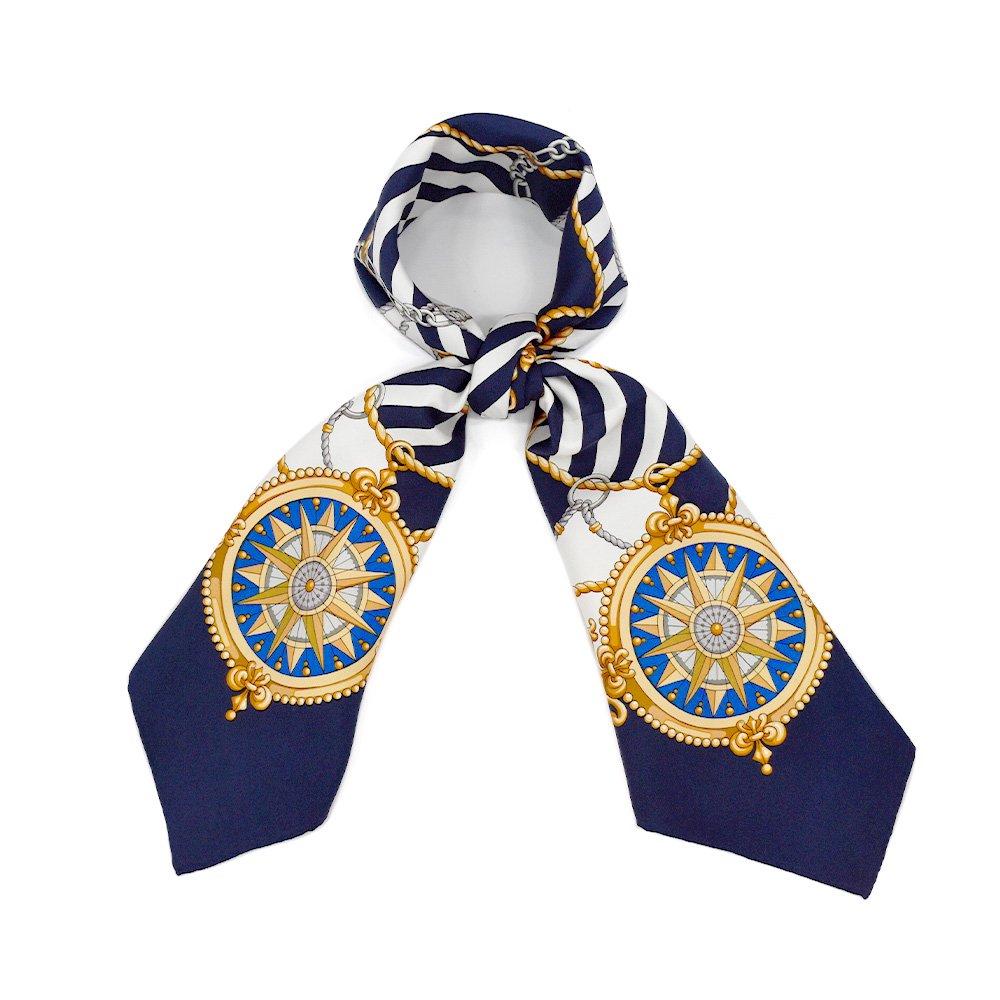 マリン&ロープ(CM5-001) Marcaオリジナル 大判 シルクツイル スカーフの画像1