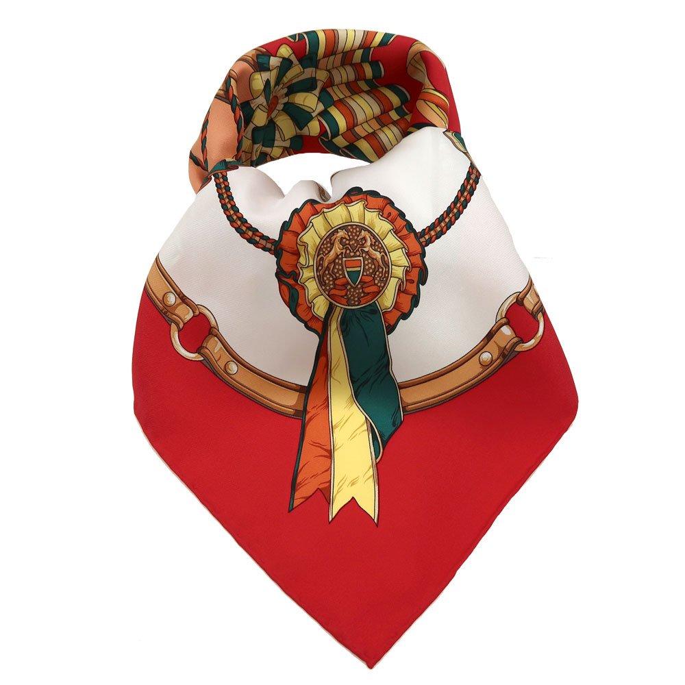 勲章とリボン(CM4-082) Marcaオリジナル 大判 シルクツイル スカーフ