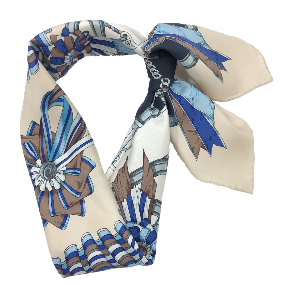 勲章とリボン(CM4-082) Marcaオリジナル 大判 シルクツイル スカーフの画像3