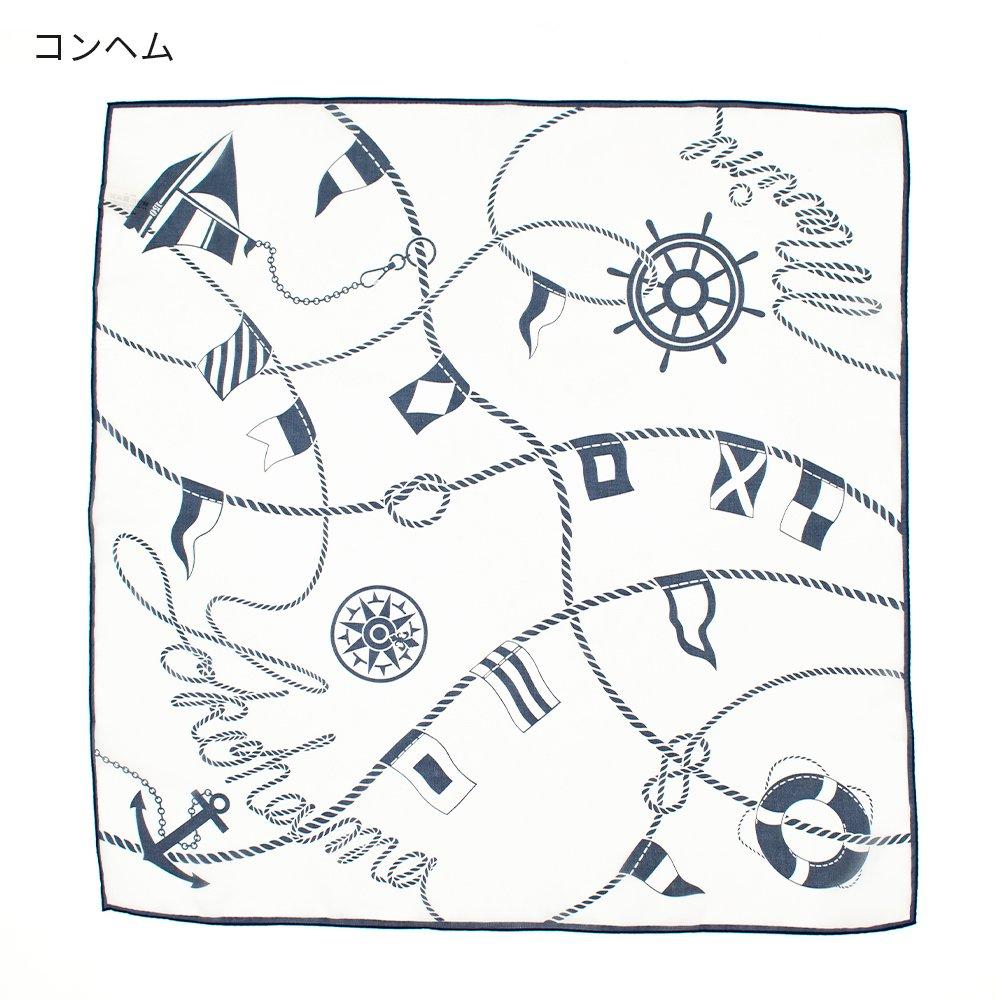 YOKOHAMAクルージング(FEH-268) 伝統横濱スカーフ 小判 シルクローン スカーフの画像2