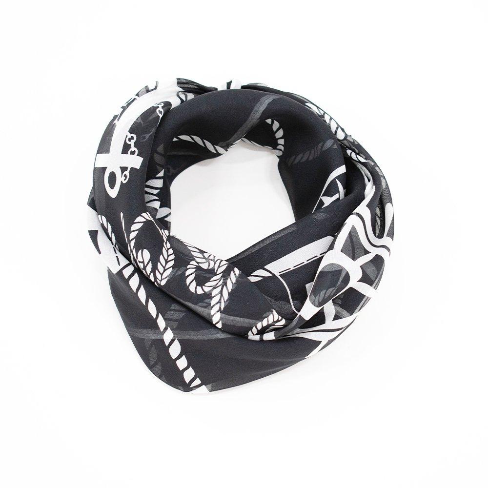 YOKOHAMAクルージング(FEH-268) 伝統横濱スカーフ 小判 シルクローン スカーフの画像6