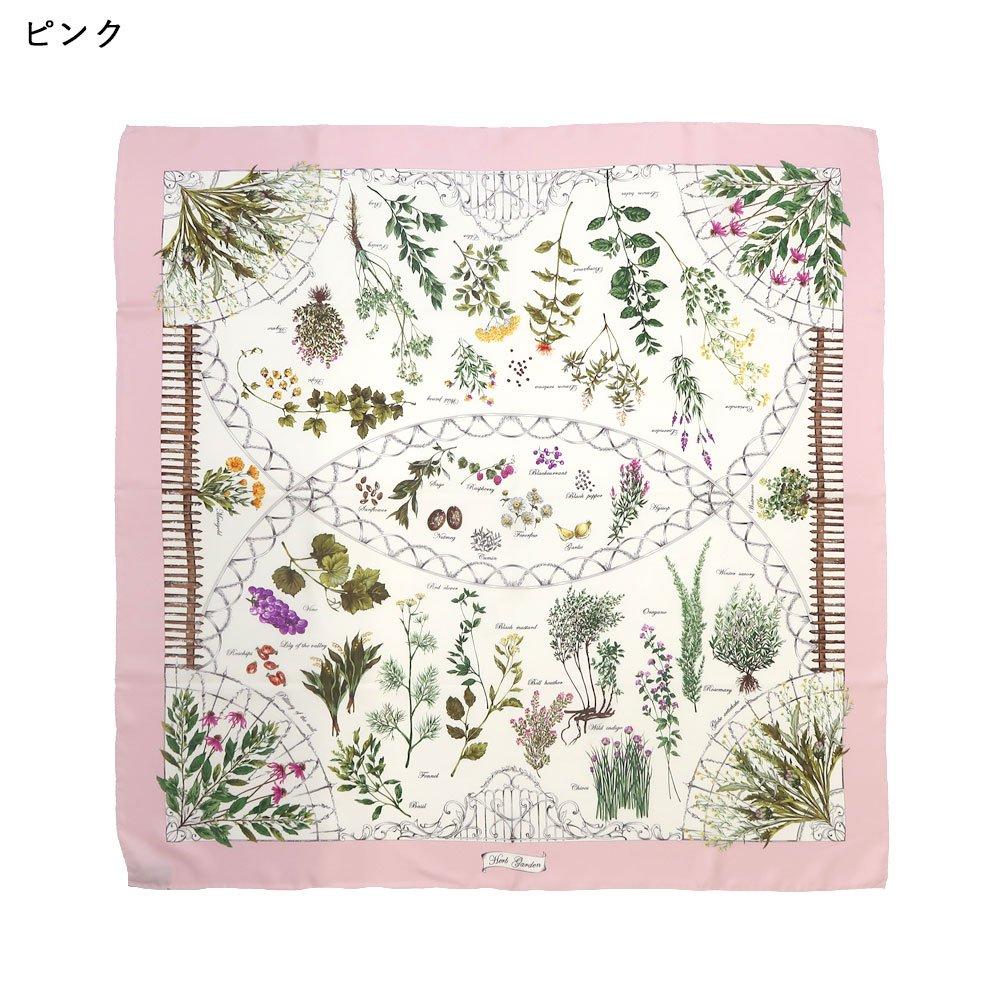 ハーブガーデン(CFG-105) 伝統横濱スカーフ 大判 シルクツイル スカーフの画像2