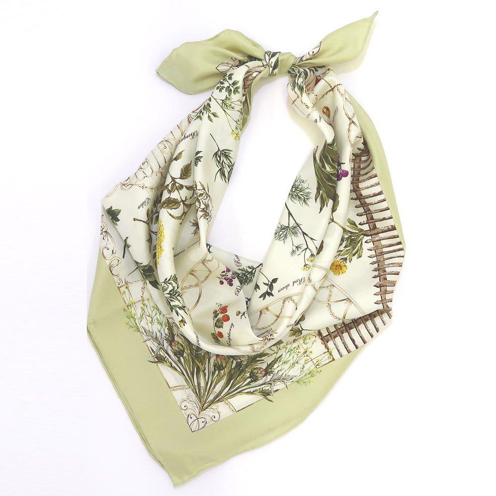 ハーブガーデン(CFG-105) 伝統横濱スカーフ 大判 シルクツイル スカーフの画像4