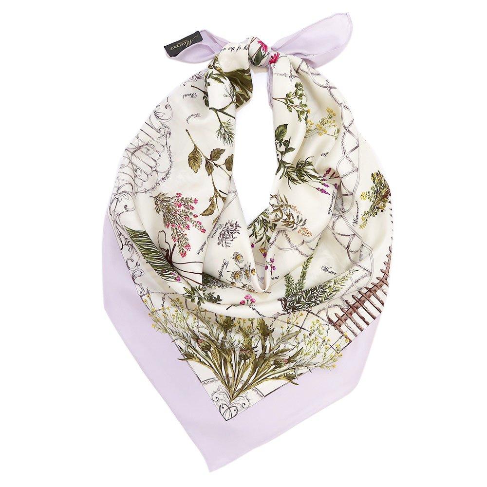 ハーブガーデン(CFG-105) 伝統横濱スカーフ 大判 シルクツイル スカーフの画像6