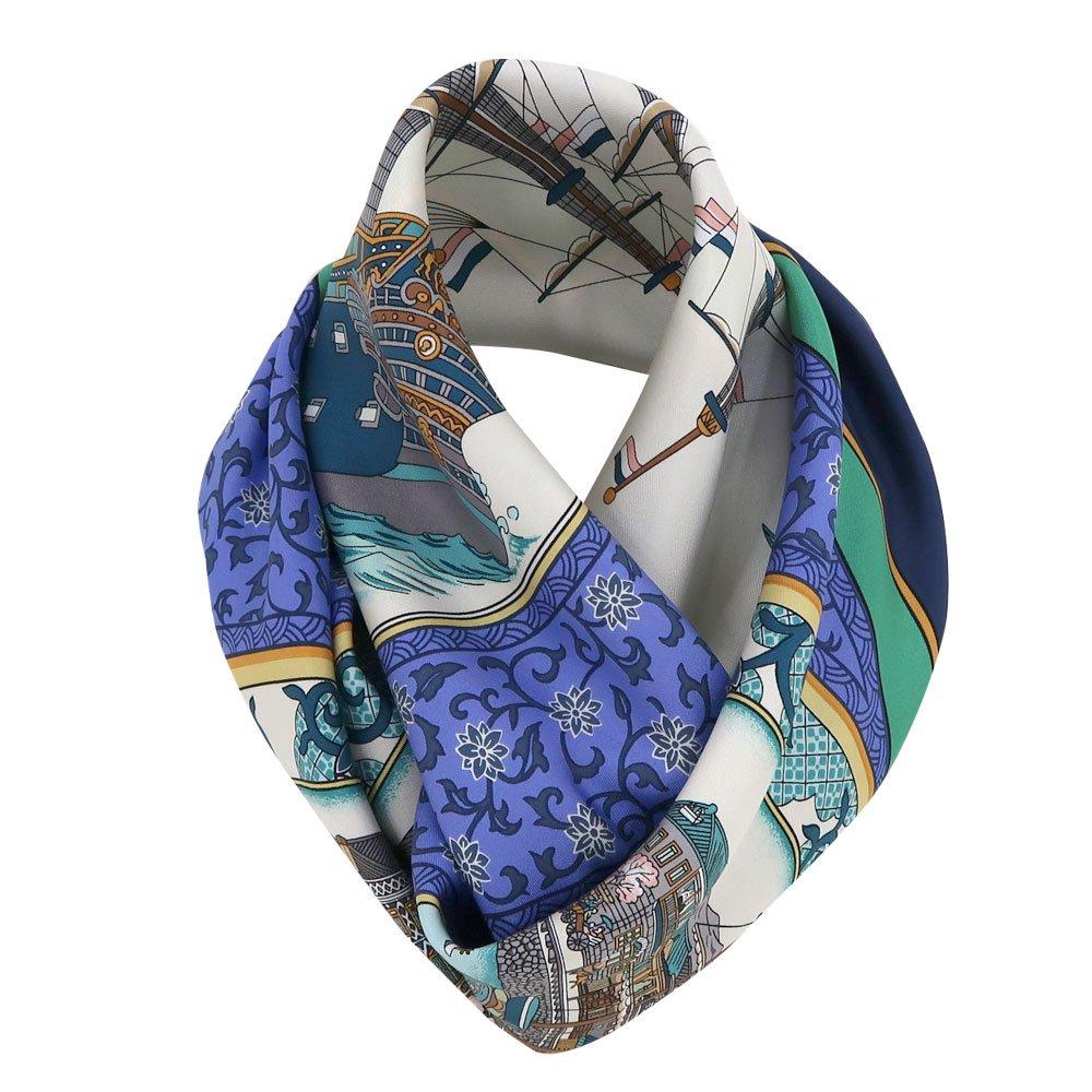 海岸通之図(CX1-910) 伝統横濱スカーフ 大判 シルクツイル スカーフの画像3