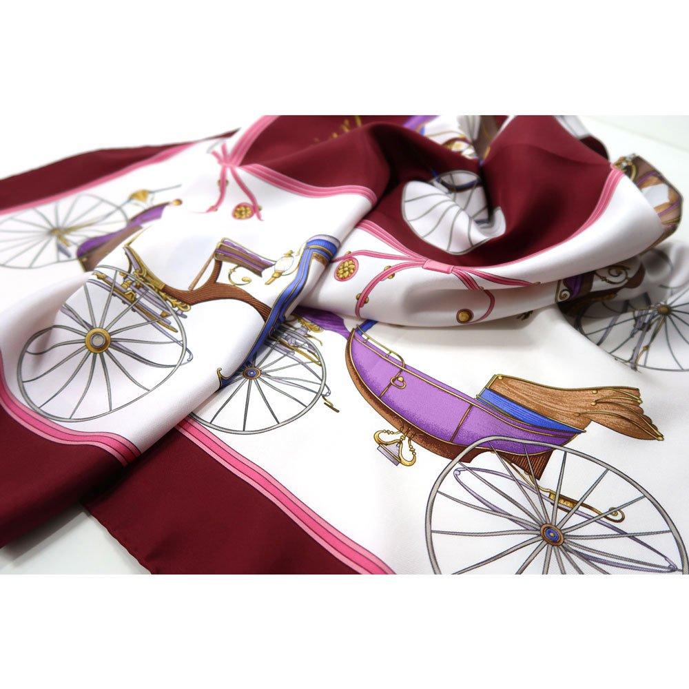 四輪馬車(CEE-225) 伝統横濱スカーフ 大判 シルクツイル スカーフの画像4