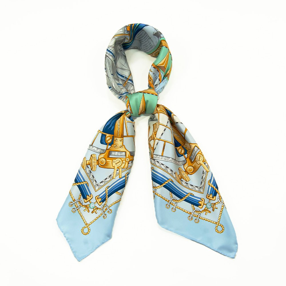 日本丸(CM5-287) 伝統横濱スカーフ 大判 シルクツイル スカーフの画像7
