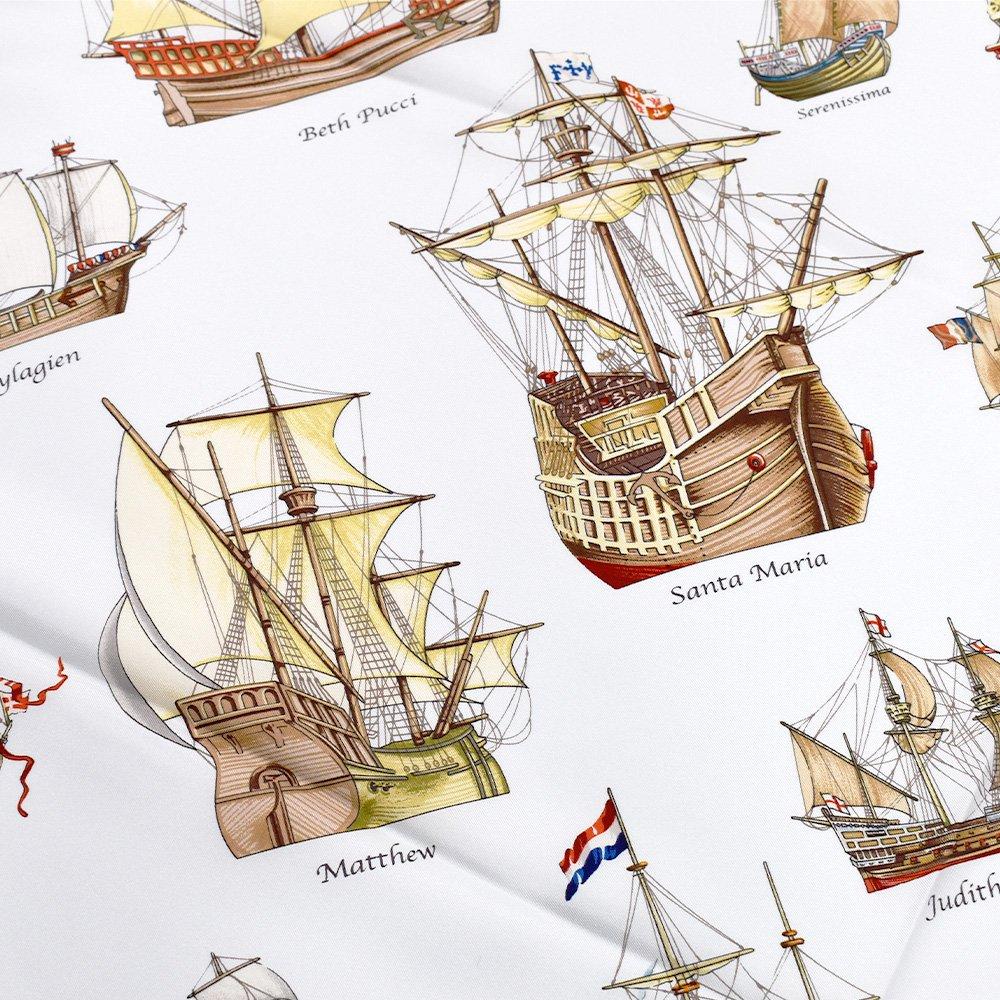 帆船パレード(CEE-226) 伝統横濱スカーフ 大判 シルクツイル スカーフの画像4