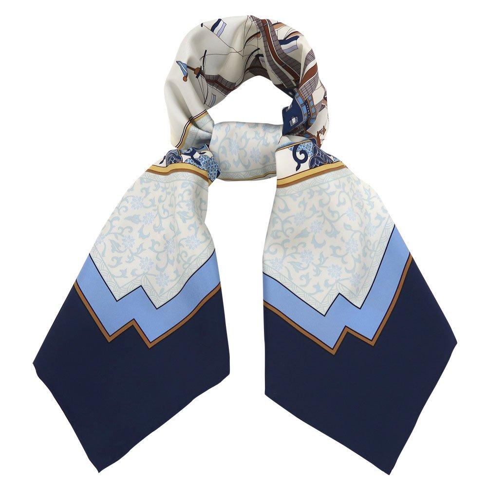 海岸通之図(CX1-910Y) 伝統横濱スカーフ 大判 シルクツイル スカーフの画像3