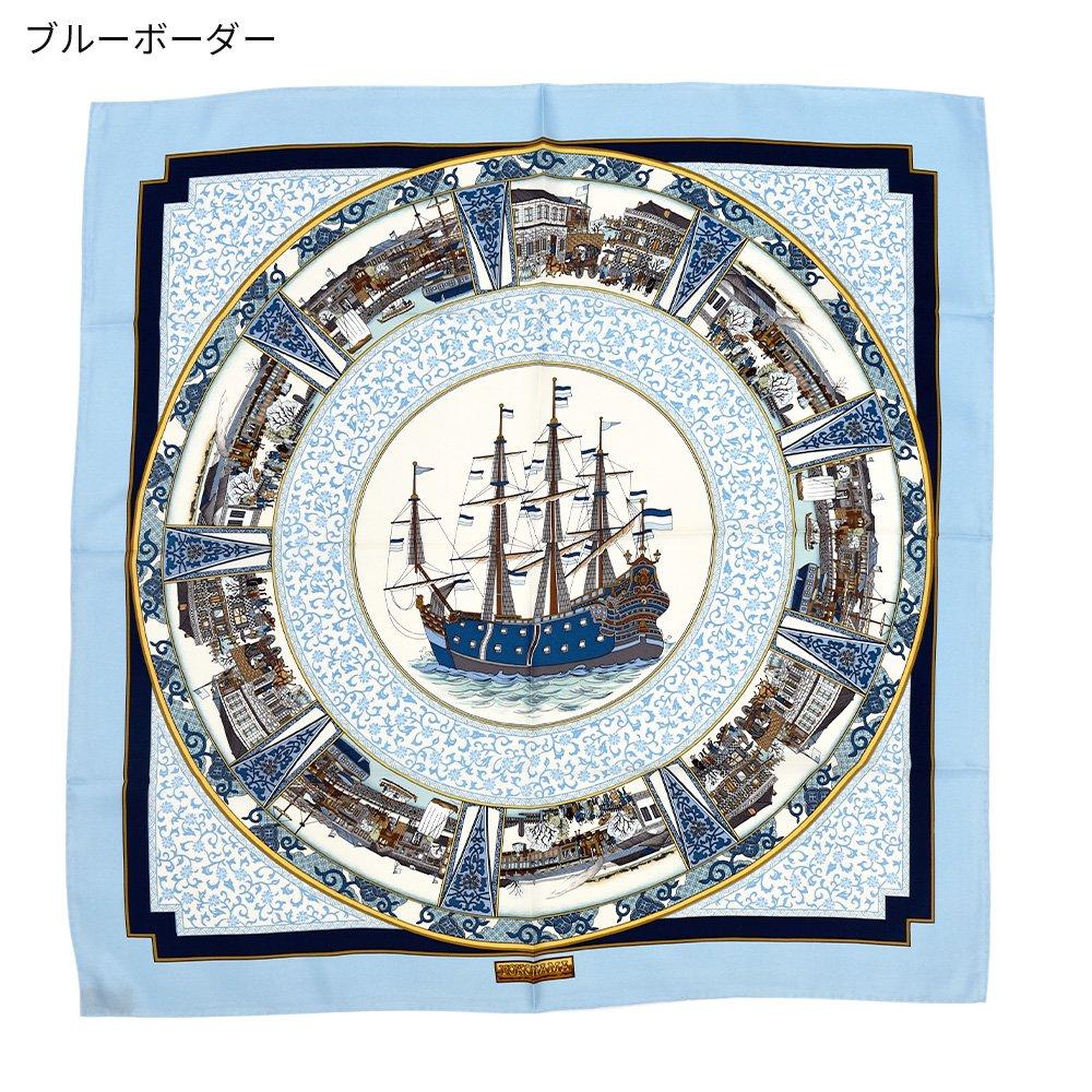 海岸通之図(CX1-910Y) 伝統横濱スカーフ 大判 シルクツイル スカーフの画像7