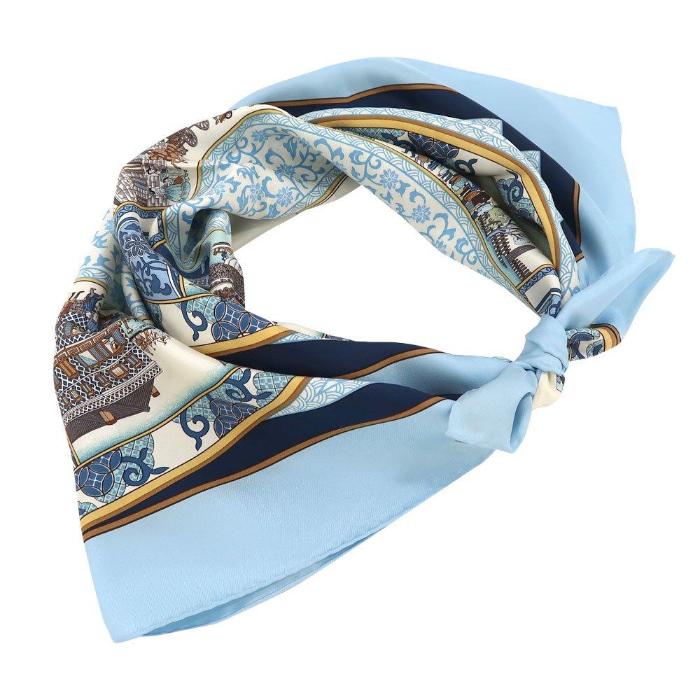 海岸通之図(CX1-910Y) 伝統横濱スカーフ 大判 シルクツイル スカーフの画像8