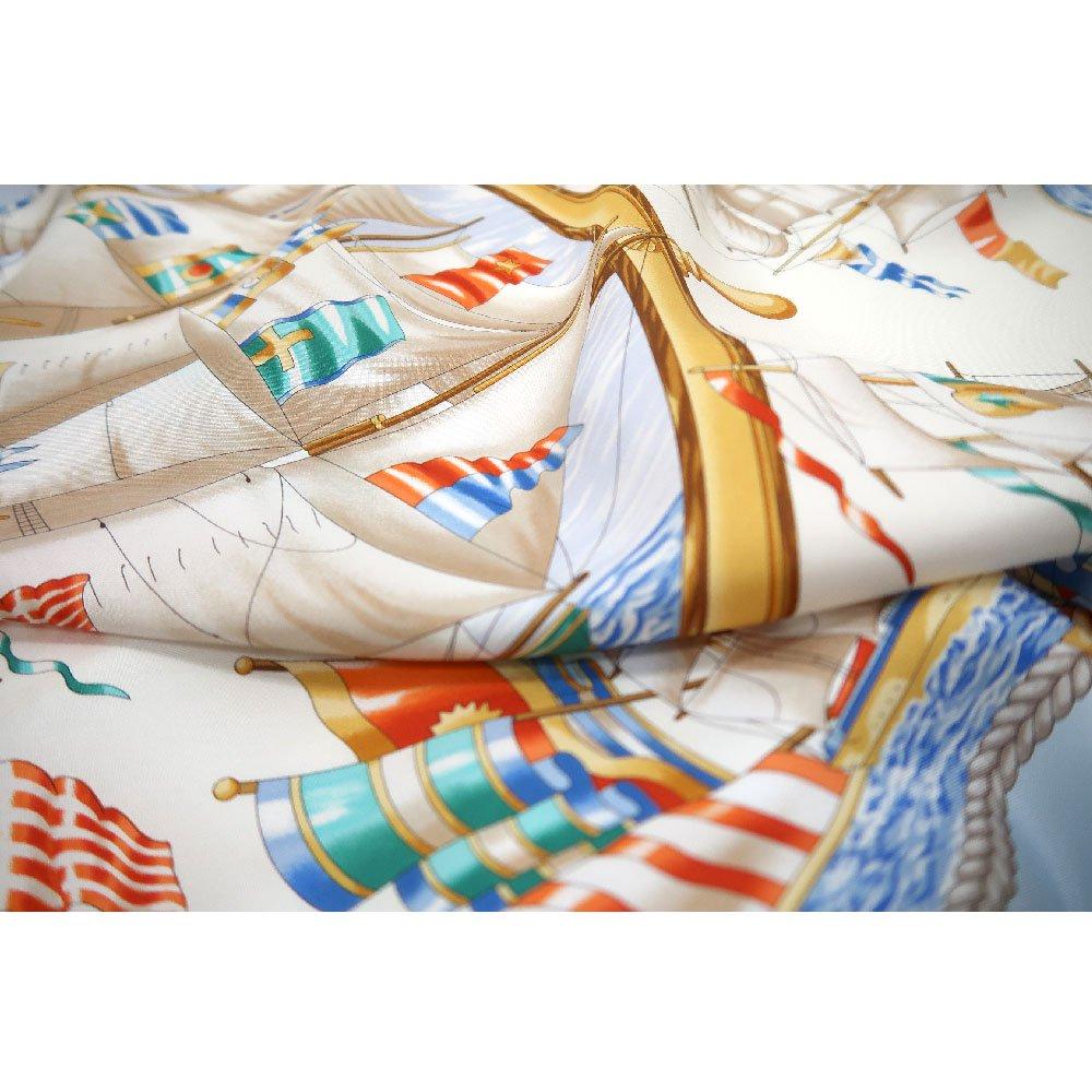 帆船(CM9-339) 伝統横濱スカーフ 大判 シルクツイル スカーフの画像4