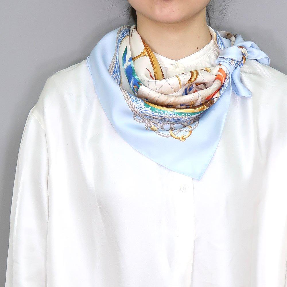 <img class='new_mark_img1' src='https://img.shop-pro.jp/img/new/icons1.gif' style='border:none;display:inline;margin:0px;padding:0px;width:auto;' />帆船(CM9-339) 伝統横濱スカーフ 大判 シルクツイル スカーフの画像7