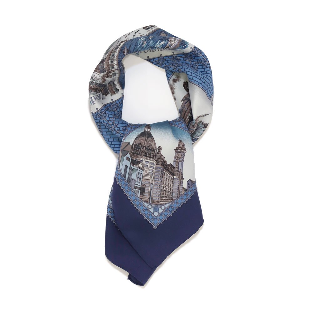 赤レンガ倉庫(CMB-230Y) 伝統横濱スカーフ 大判 シルクツイル スカーフの画像4