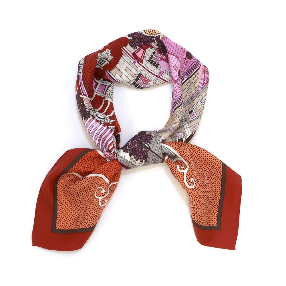ヨコハマシティ(CM6-872) 伝統横濱スカーフ 大判 シルクツイル スカーフの画像1