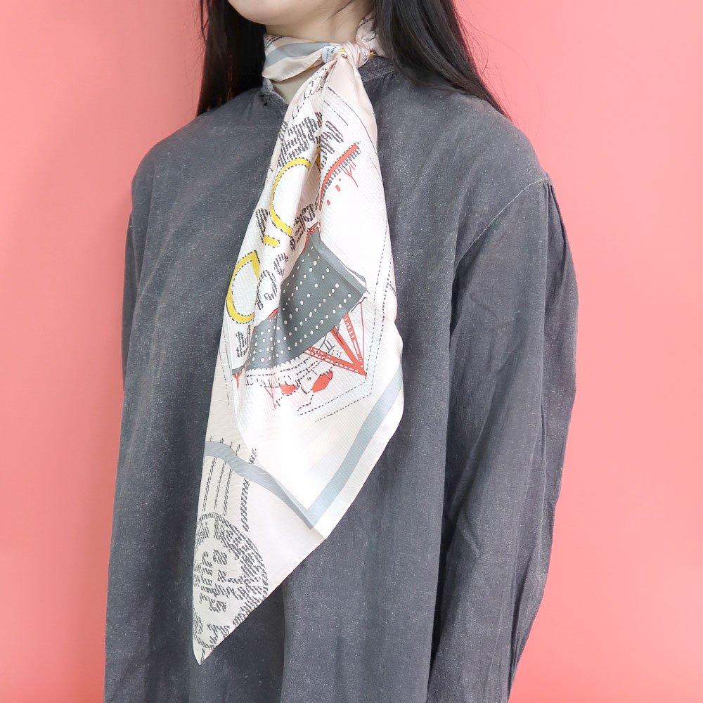 TRAVELER(FMQ-033S) 【the PORT by marca】小判 シルクツイル スカーフの画像7