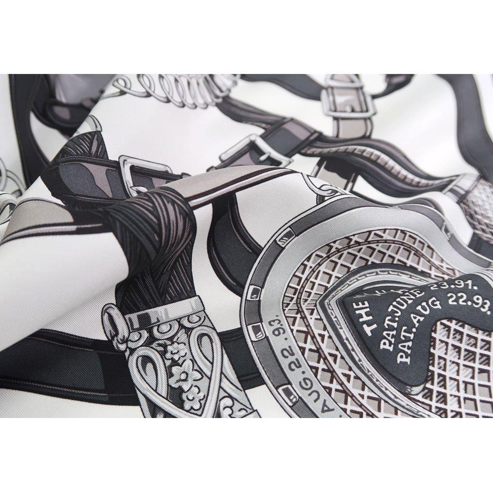 蹄鉄とステッキ(CM5-381) Marcaオリジナル 大判 シルクツイル スカーフの画像3