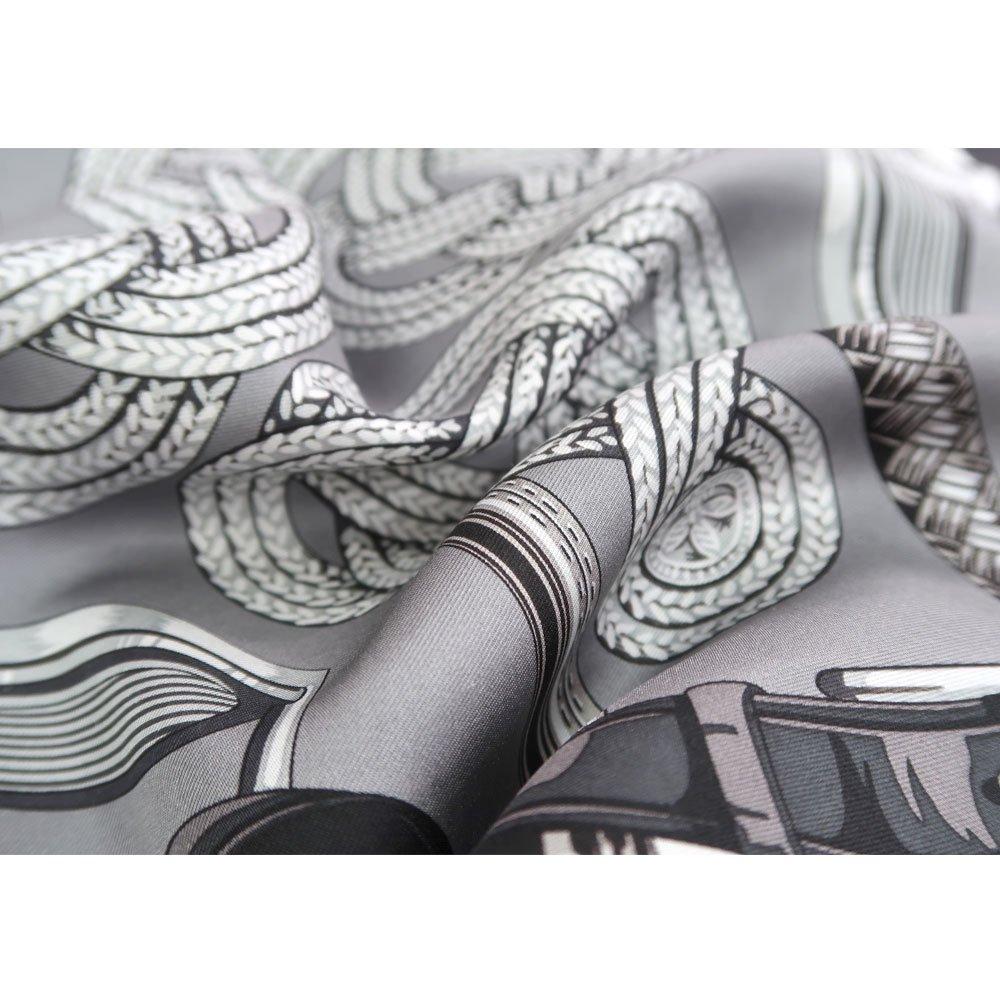 蹄鉄とステッキ(CM5-381) Marcaオリジナル 大判 シルクツイル スカーフの画像4