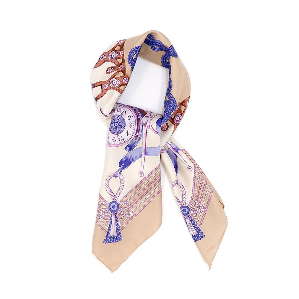 リボンとビット (CM4-311H) Marcaオリジナル 大判 シルクツイル スカーフの画像4