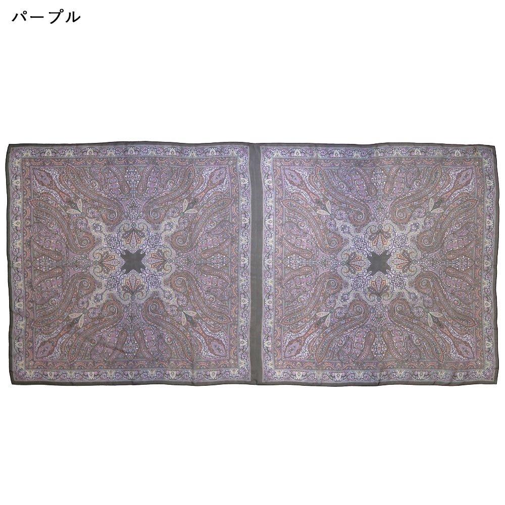 カシミール08ロングL(CM4-608LL) Marcaオリジナル 大判 シルクローン ストールの画像5