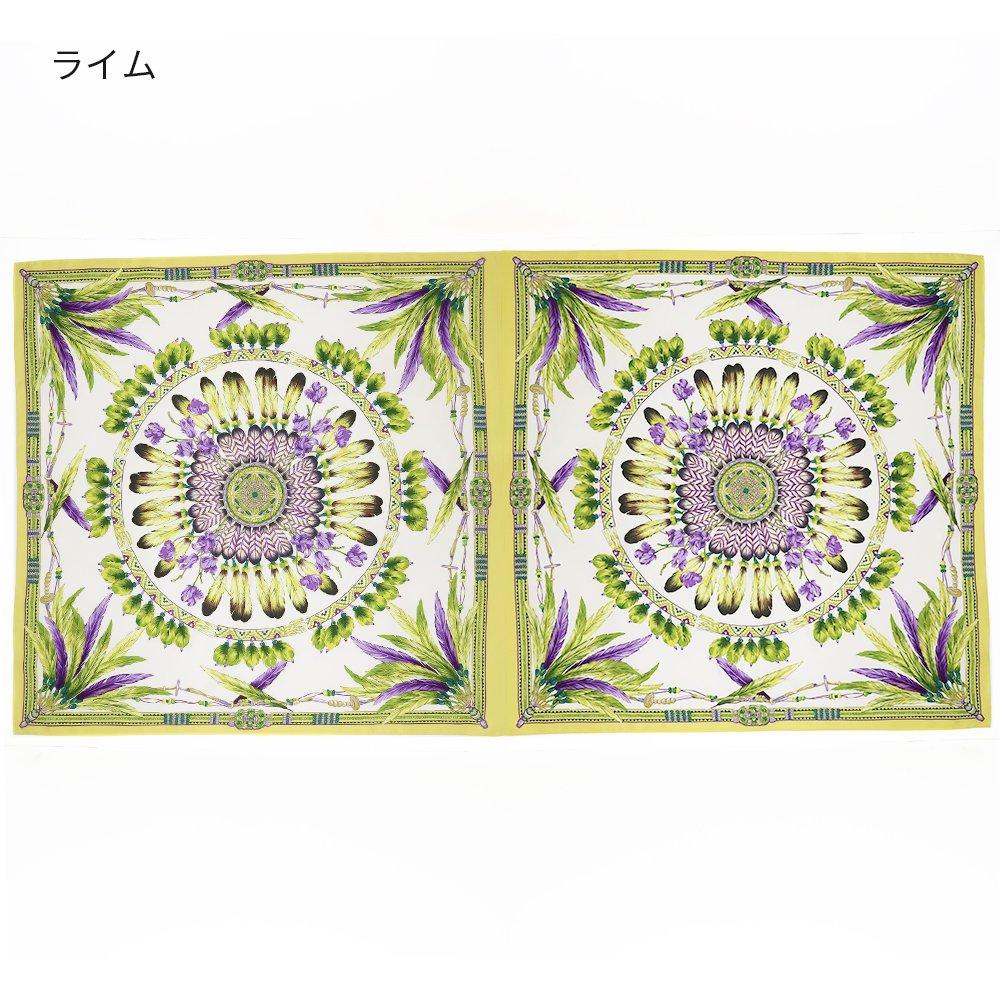 羽根飾りロング(CM5-156L) Marcaオリジナル 大判 シルクツイル ストールの画像2