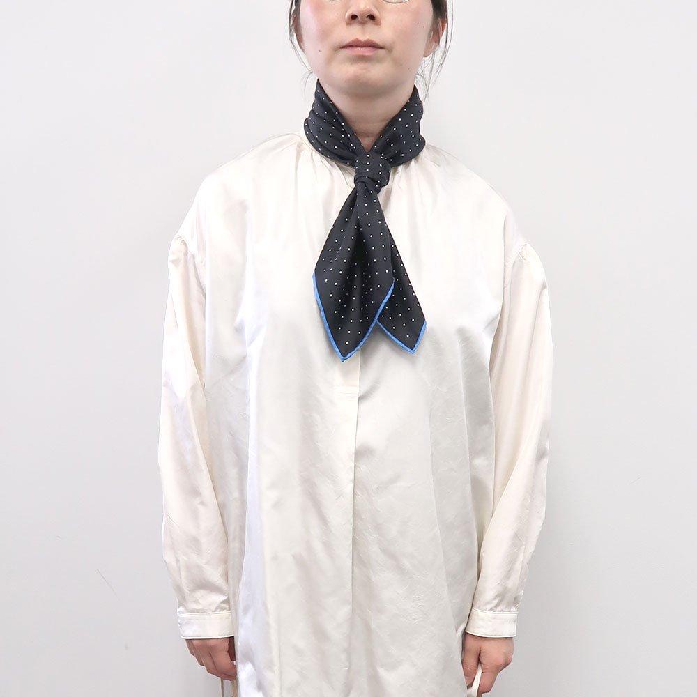 ピンドット(FOR-006) Marcaオリジナル 小判 シルクツイル スカーフの画像3