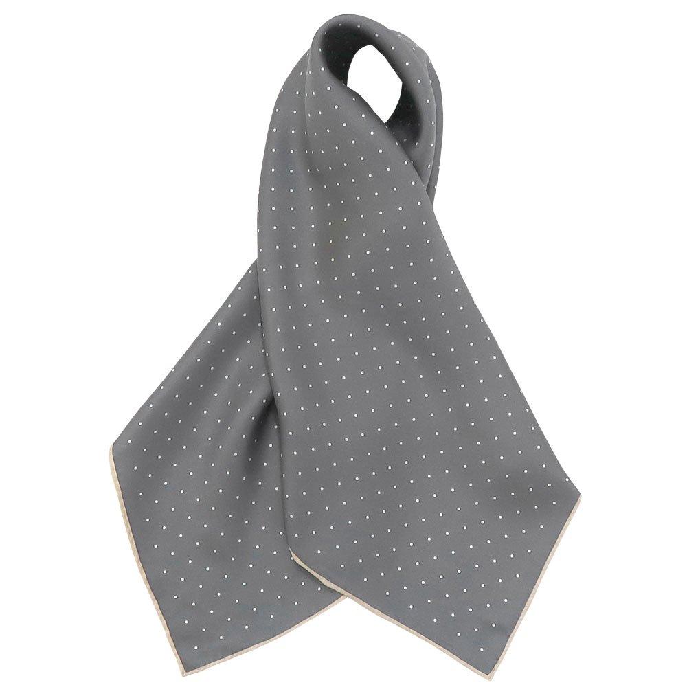 ピンドット(FOR-006) Marcaオリジナル 小判 シルクツイル スカーフの画像4