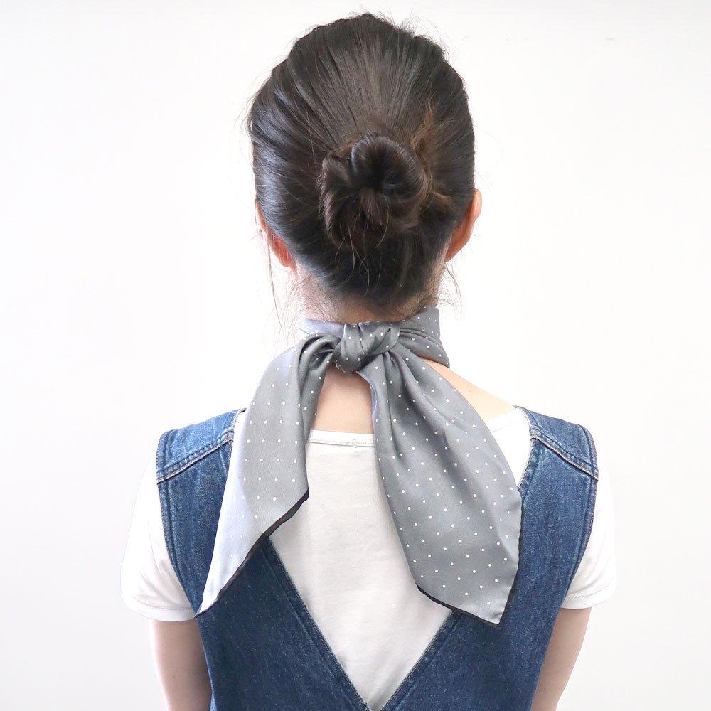 ピンドット(FOR-006) Marcaオリジナル 小判 シルクツイル スカーフの画像6
