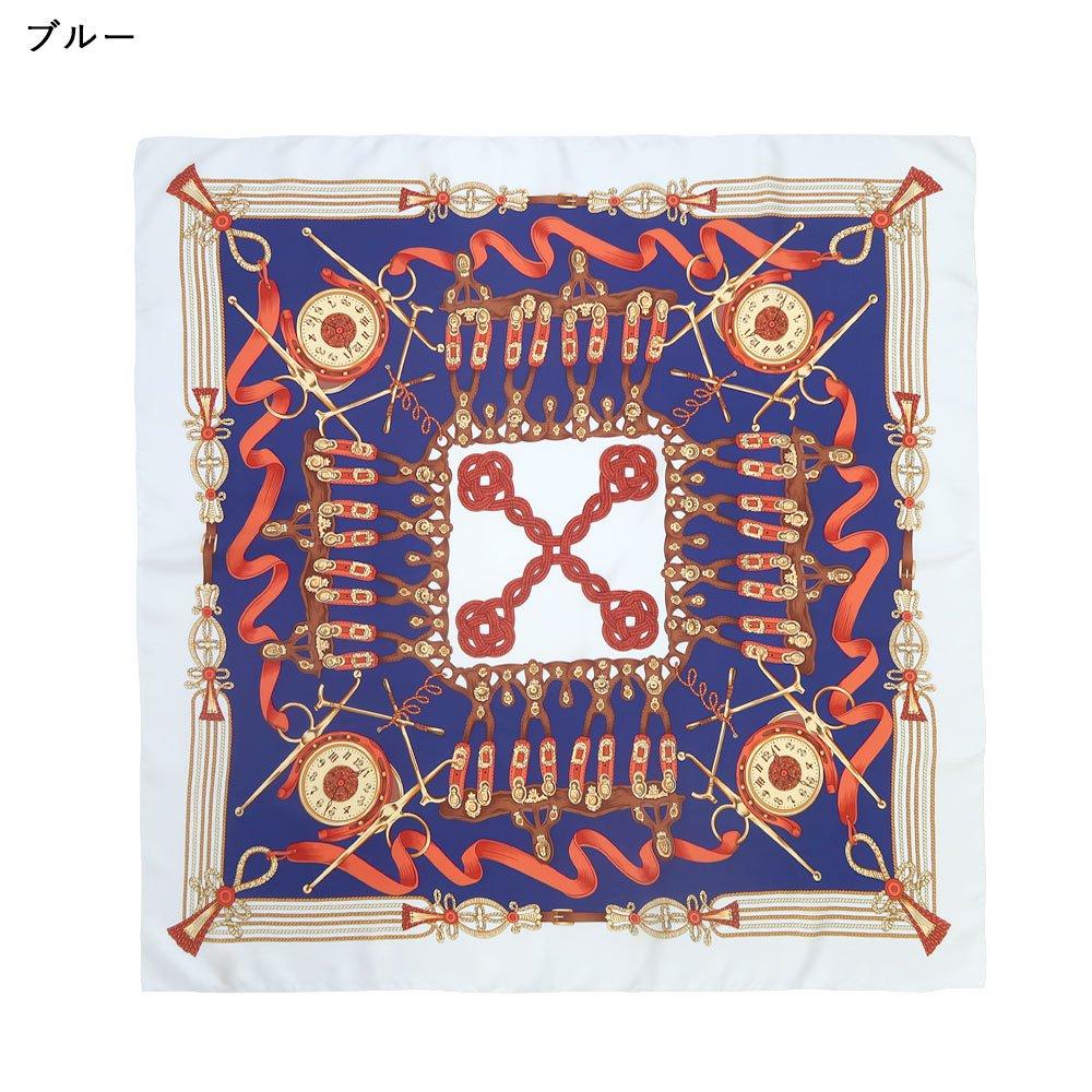 リボンとビット (CM4-311M) Marcaオリジナル 大判 シルクツイル スカーフの画像2
