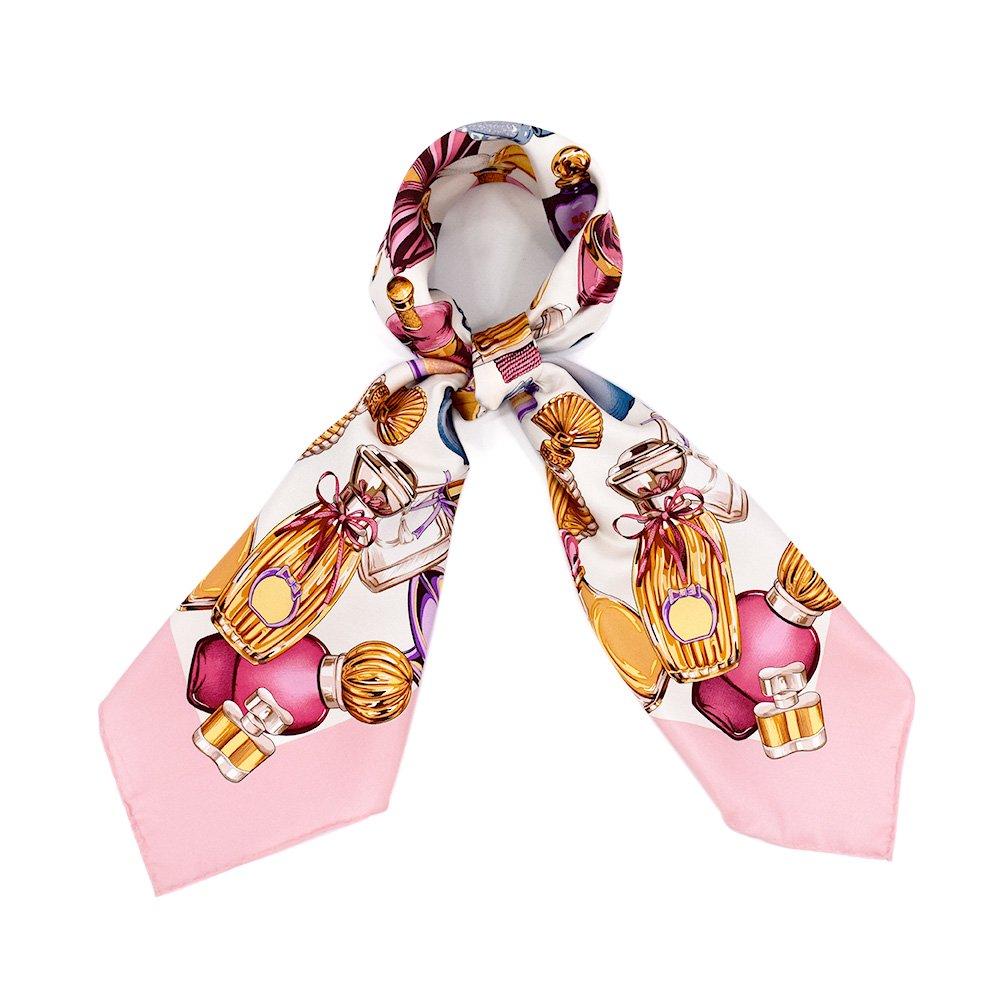 パフュームボトル (CM7-012) Marcaオリジナル 大判 シルクツイル スカーフの画像1